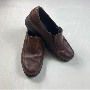 Merrell Bass Distressed Brown Leather Loafer 11.5